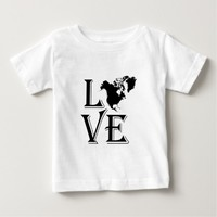 Love North America Continent Shirt