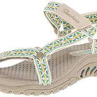 Skechers Cali Women's Reggae Redemption Gladiator Sandal, Natural Multi, 8 M US