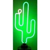 "Cactus Neon Sculpture - by Neonetics (Multicolor) (22""H x 6""W x 6""D)"