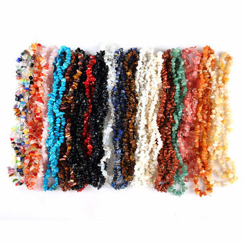 5-8mm Stone Beads Chips Beads For Jewelry Making Freeform Gravel In Beads Diy Bracelet Strand 33 inches Bulk