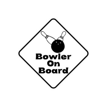Family Friends party Board game YJZT 13.8CM*13.8CM Decal Car Bowler On Board Sticker Vinyl Fun Bowling Black/Silver C10-00560 AT_41_3