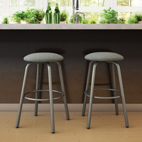 Amisco Log Swivel Metal Counter Stool | Overstock.com Shopping - The Best Deals on Bar Stools