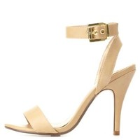 Single Strap Dress Sandals by Charlotte Russe - Taupe