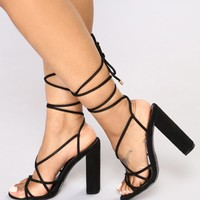 Wrap Her Up Heeled Sandal - Black