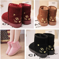 Cute women snow boots lovely little kitty ankle snow boots women lady causal kawaii cats shoes winter warm comfortable boots-in Boots from Shoes on Aliexpress.com | Alibaba Group