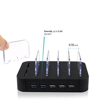 5 Port USB Charger Phone Holder Charging Dock Station