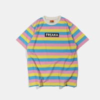 Sherbert Striped Freaka Tee