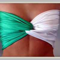 Collegiate Collection MSU Green And White Bandeau by Sidewalk616