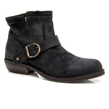 Fiorentini + Baker Black Feather Carved Chad Boot