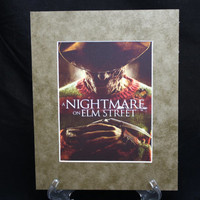 A Nightmare On Elm Street 8x10 Authentic Movie Backer/Mini Poster Display Matted E0306