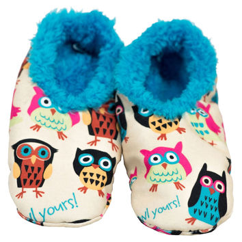 I'm Owl Yours Fuzzy Feet Kids Slippers