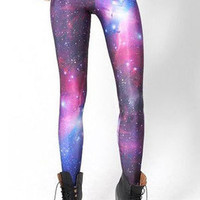 Ladies Multicolored Galaxy Printed Stretchy Tights Jeans Leggings Pants #79112