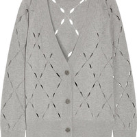 T by Alexander Wang - Pointelle-knit cotton and modal-blend cardigan