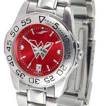 Western State Colorado University Mountaineers Ladies' Sport Steel AnoChrome Watch