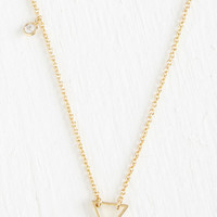 Minimal Delicate Details Necklace in Triangle by ModCloth