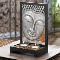 Buddha Plaque Tealight Candle Holder Decor