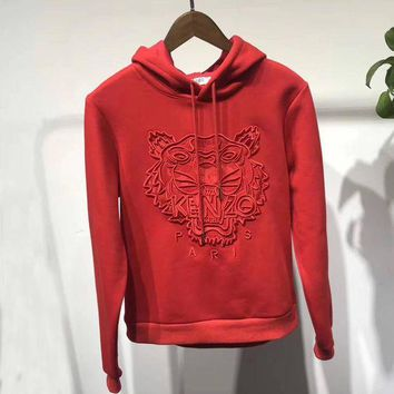 DCCKN7G KENZO Woman Men Fashion Embroidery Top Sweater Pullover Hoodie