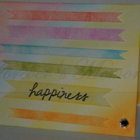 Handmade Rainbow Happiness Card with Clear Rhinestones | foreversmemories - Cards on ArtFire