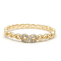 tiny infinity ring, in gold