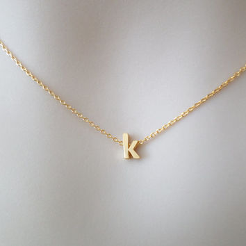 Lower, letter, initial, gold/ silver, necklace, letter, tiny, letter, lower, case, initial, necklace, personalized, jewelry, simple