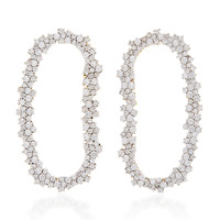 18K White Gold Diamond Mia Earrings | Moda Operandi