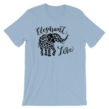 Love Elephant Shirt Hearts, Shipping Included