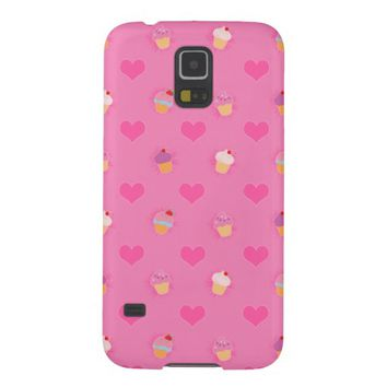 Pink Cupcake Pattern Cases For Galaxy S5