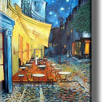 Café Terrace at Night by Vincent van Gogh Picture on Acrylic , Wall Art Décor, Ready to Hang!