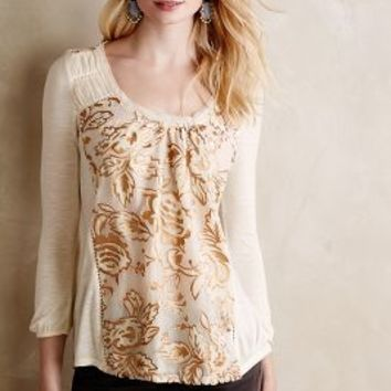 Mariana Burnout Velvet Top by Meadow Rue Ivory