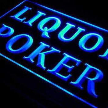 Liquor Poker Neon Sign (LED)