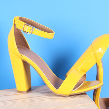 One Band Ankle Strap Open Toe Heel | UrbanOG