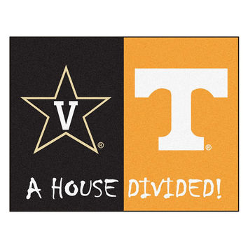 Vanderbilt - Tenneessee NCAA House Divided NFL All-Star Floor Mat (34x45)