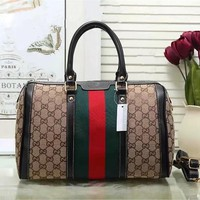 One-nice™ GUCCI Women Shopping Bag Leather Tote Handbag Shoulder Bag