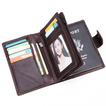 Men Business  Multi-functional Passport Trifold Wallet