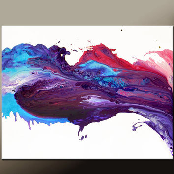 Abstract Canvas Art Painting 40x30 Contemporary Original Wall Art Paintings by Destiny Womack -  dWo - Enchantment