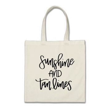 Sunshine and Tan Lines Bachelorette Party Tote Bag