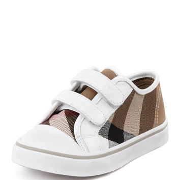 Check Double-Strap Sneaker, Youth - Burberry