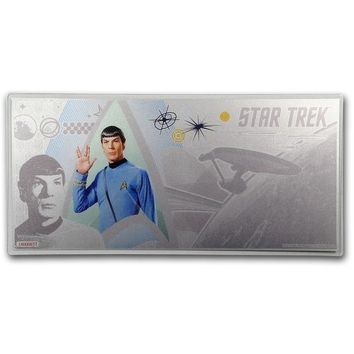 2018 Niue 5 gram Silver $1 Note Star Trek Commander Spock