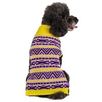 Blueberry Pet 10-Inch Back Length Geometric Cross-shape Designer Dog Sweater Clothes Sweatshirt for Dogs