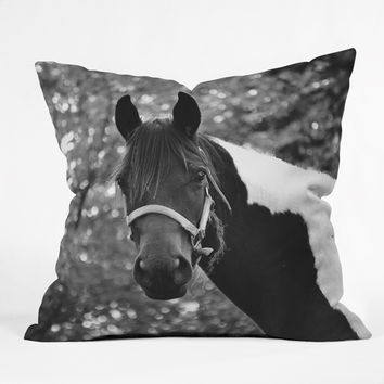 Allyson Johnson Horse Portrait Throw Pillow