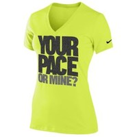 Nike Dri-FIT Cotton Graphic Running T-Shirt - Women's