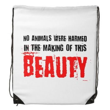 No Animals Were Harmed Backpack