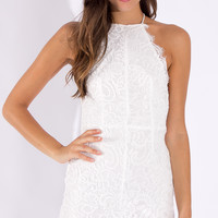 No Reasons Lace Bodycon Dress in White