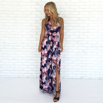 Breathtaking Blooms Floral Maxi Dress