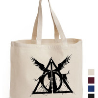 Deathly Hallow Triangle Cotton Tote hand harry potter ECO canvas shoulder bag | eBay