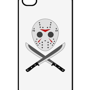 Scary Mask With Machete - Halloween iPhone 4 / 4S Case