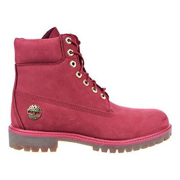 Timberland 6 Inch Premium Waterproof Men's Boots Red tb0a1jlt (10.5 D(M) US)
