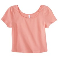Xhilaration® Junior's Cropped Tee - Coral
