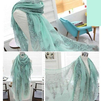 New Women Cool Soft Girl Long Scarf Pashmina Wrap Shawl Scarves = 1957844420