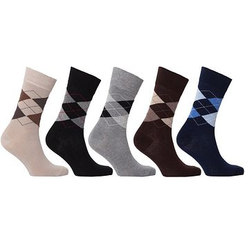 Men's 5-Pair Classic Argyle Socks